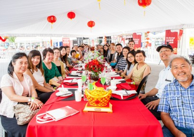 St.George Longest Lunar New Year Lunch Table